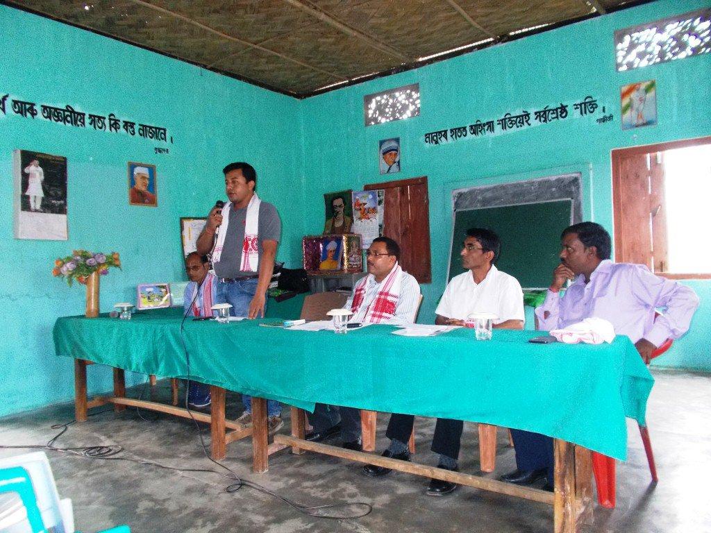 Felicitation of Mr. Jatin Ch. Bordoloi by The Hathikuli Tea Estate Team