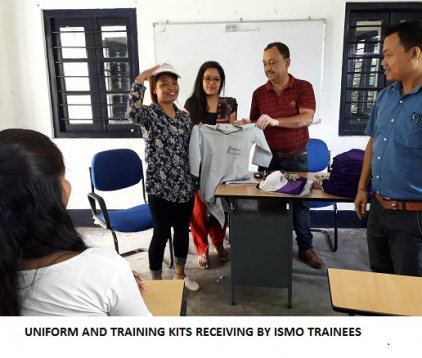Uniform and Training Kits Receiving by ISMO Trainees