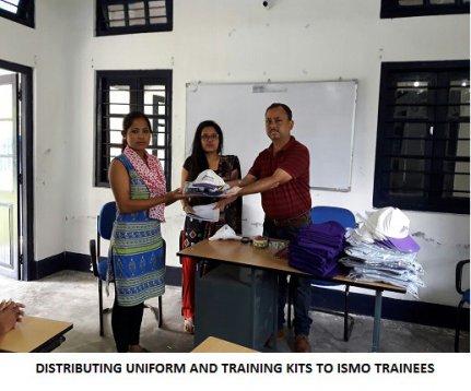 Distributing Uniform and Training Kits to ISMO Trainees
