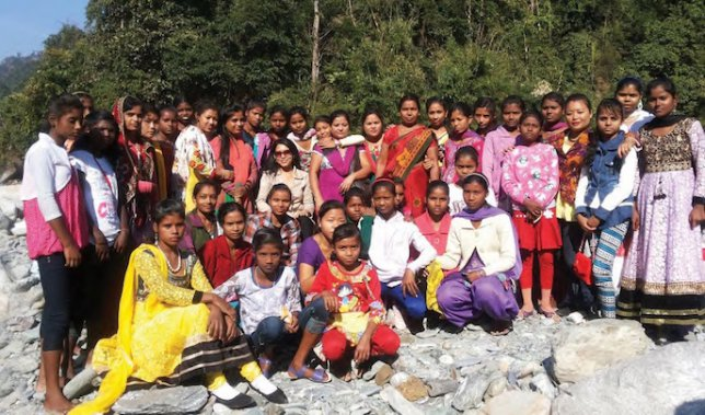 Devika Bora and the ladies of the Craft Centre at their picnic spot