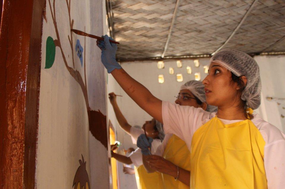 TATA Volunteering Week - Giving New Look to Pre-Primary Classrooms