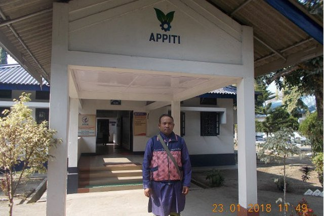 Mr. Dedsung Baro a passed out trainee of APPITI-Rowta
